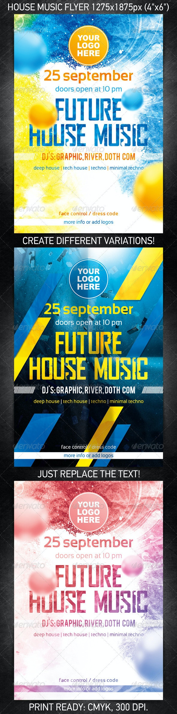Future House Music Flyer - Clubs & Parties Events