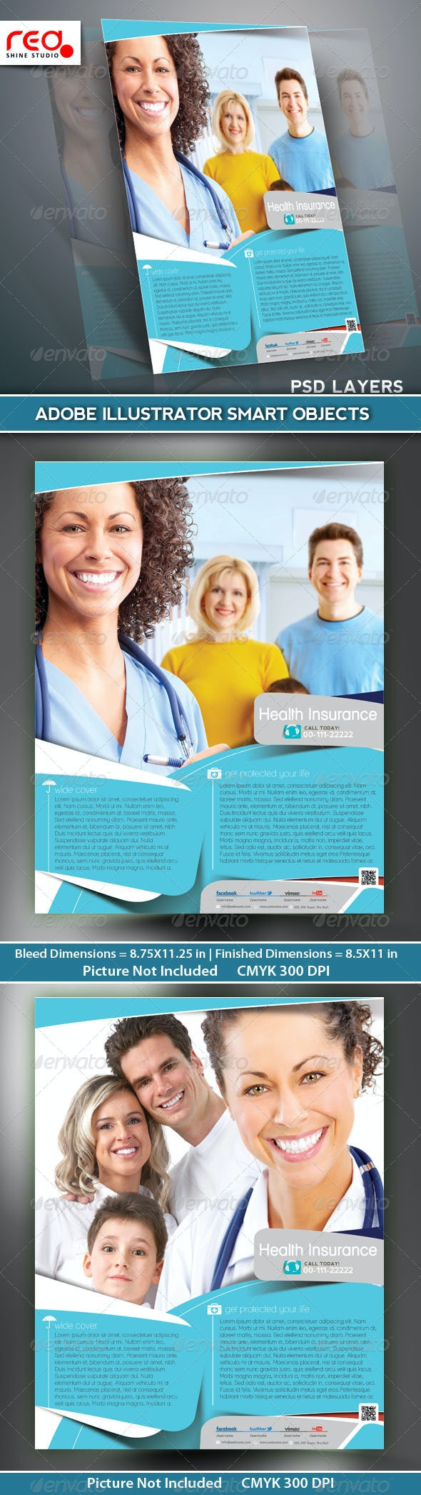Health Insurance Flyer/Poster Template - Commerce Flyers