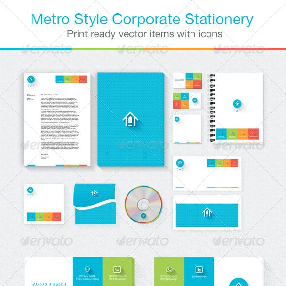 Corporate Stationery Metro Style