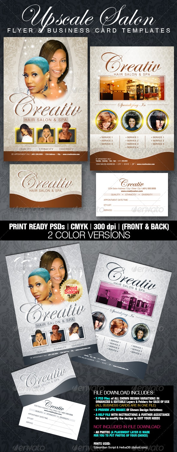 Upscale Salon Flyer & Business Card Templates - Corporate Flyers