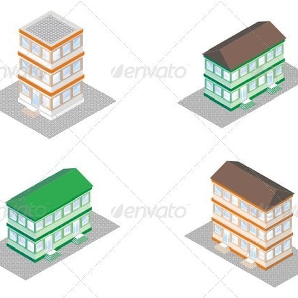 Isometric Projection Of A Building.