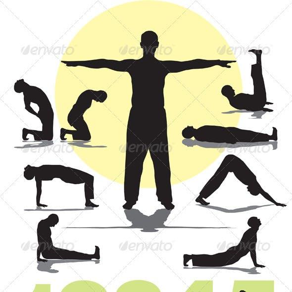 Set five Tibetan rites yoga