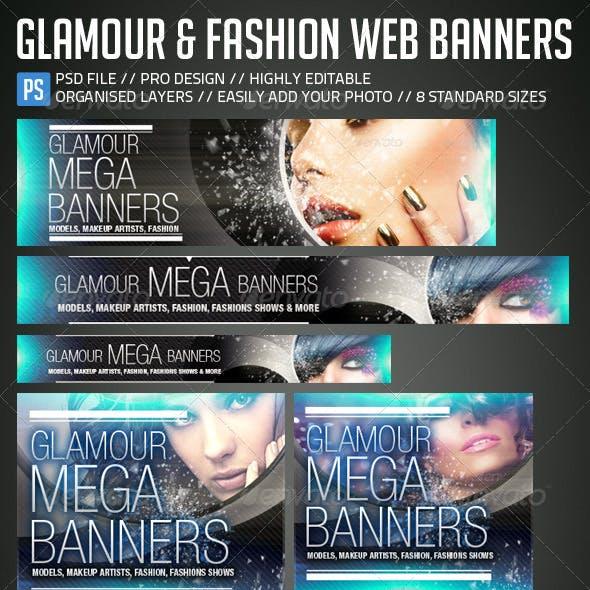 Glamour, Fashion Web Banners & Advertising Kit