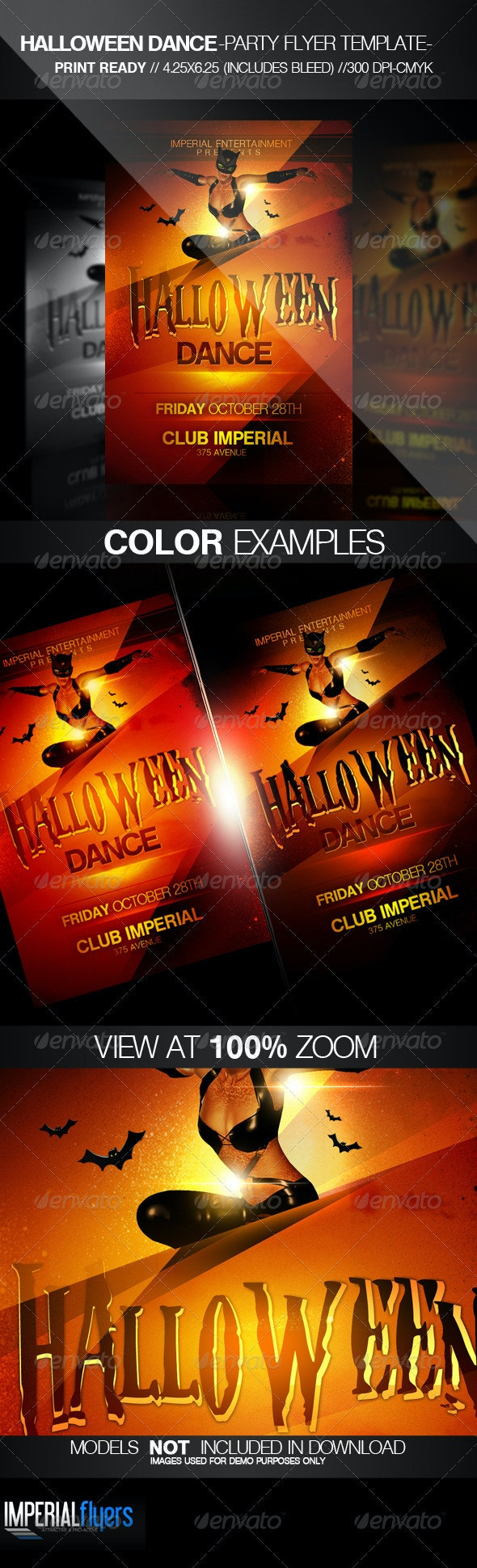Halloween Dance Party Flyer - Clubs & Parties Events