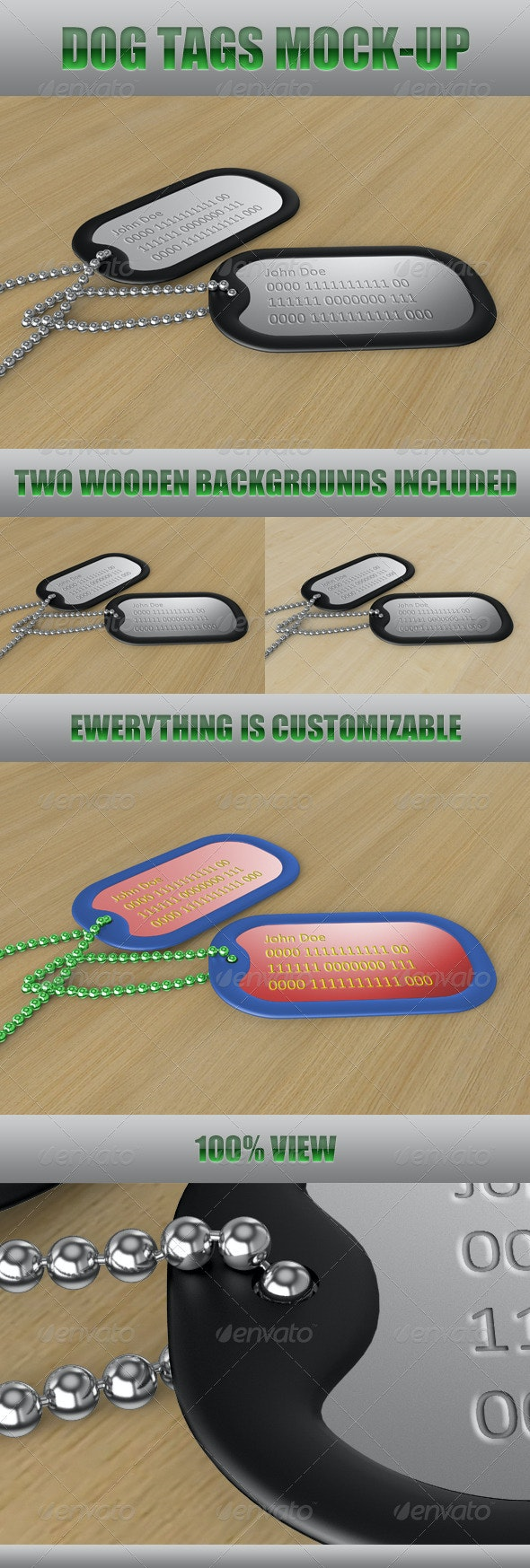 Dog Tags Mock-Up - Miscellaneous Product Mock-Ups