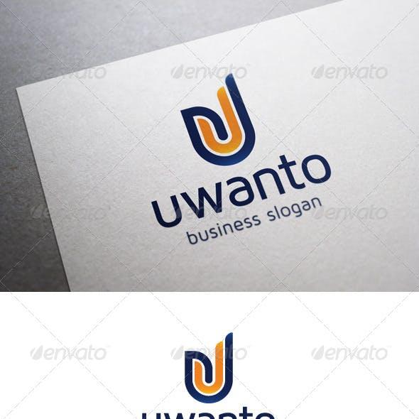 Uwanto U Letter Logo