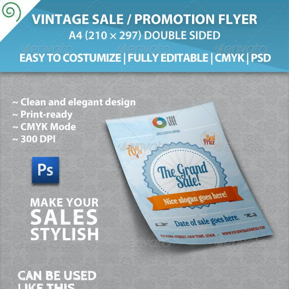 Vintage Sale / Promotion Flyer Template