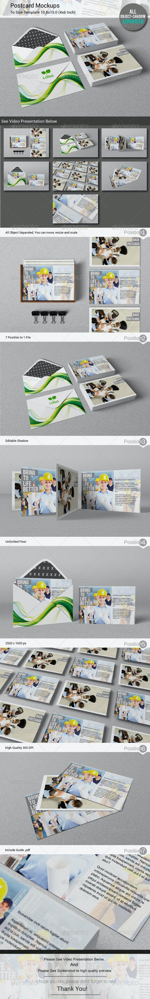 Postcard / Invitation Mockups - Print Product Mock-Ups