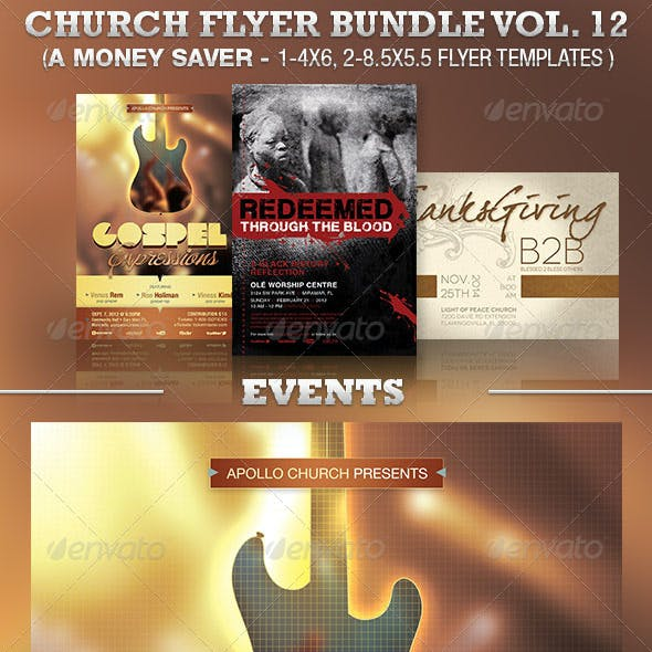 Church Events Flyer Template Bundle Vol 12