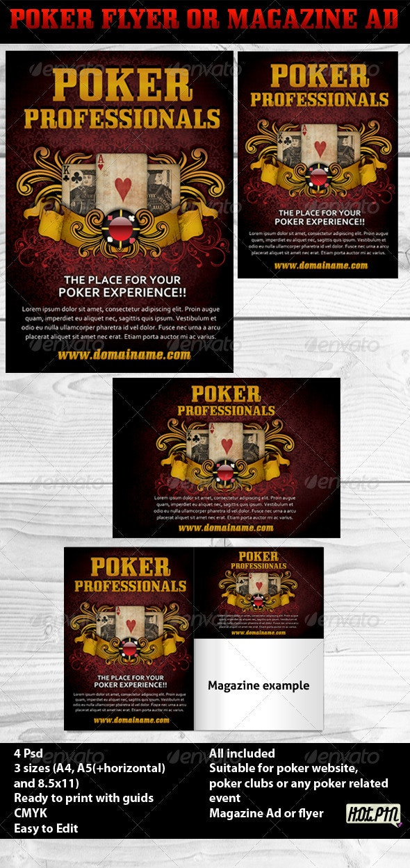 Poker Magazine Ads or flyers 3 - Sports Events