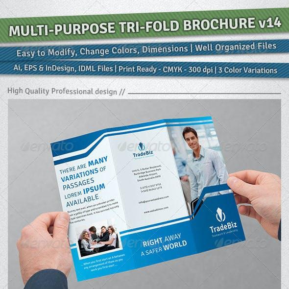 Multi-purpose Tri-Fold Brochure | Volume 14