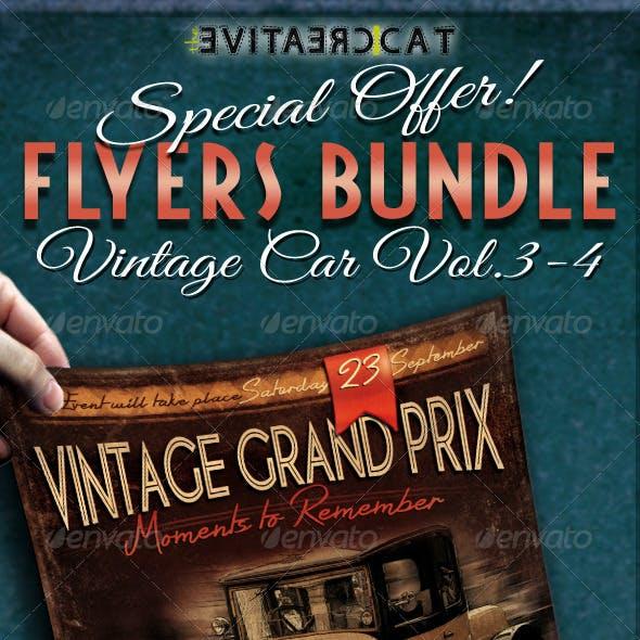 Vintage Car Flyer/Poster Bundle Vol. 3-4