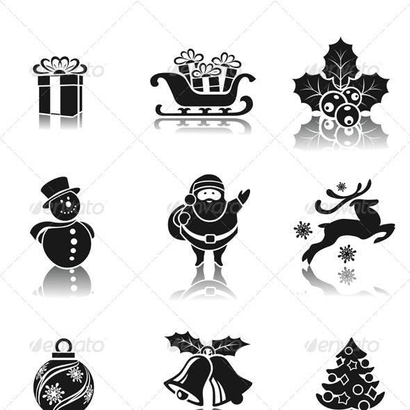 Christmas Decorative Icons Set