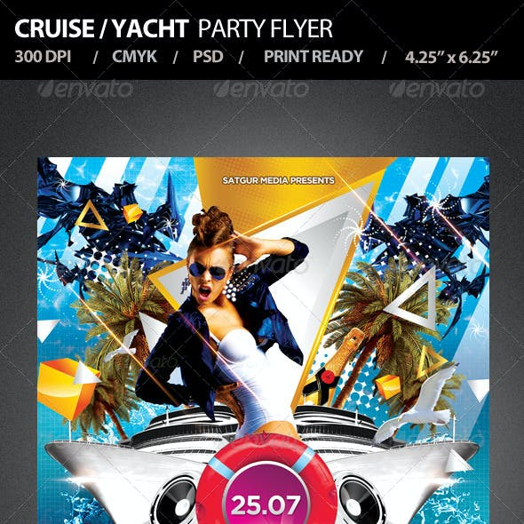 Cruise / Yacht Party Flyer