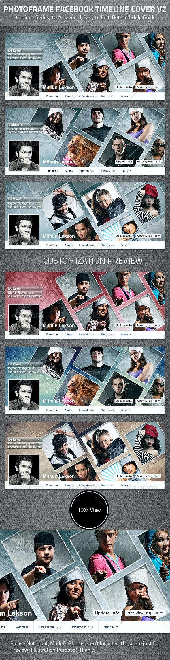 Photoframe Facebook Timeline Cover V2 - Facebook Timeline Covers Social Media