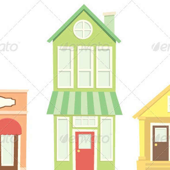 Small Town Buildings and Shops