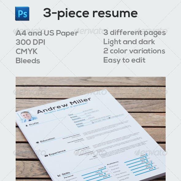 3-piece resume