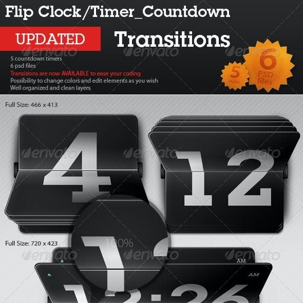 Flip Clock / Countdown Timer - Transitions