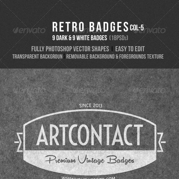 Retro Badges Col 5