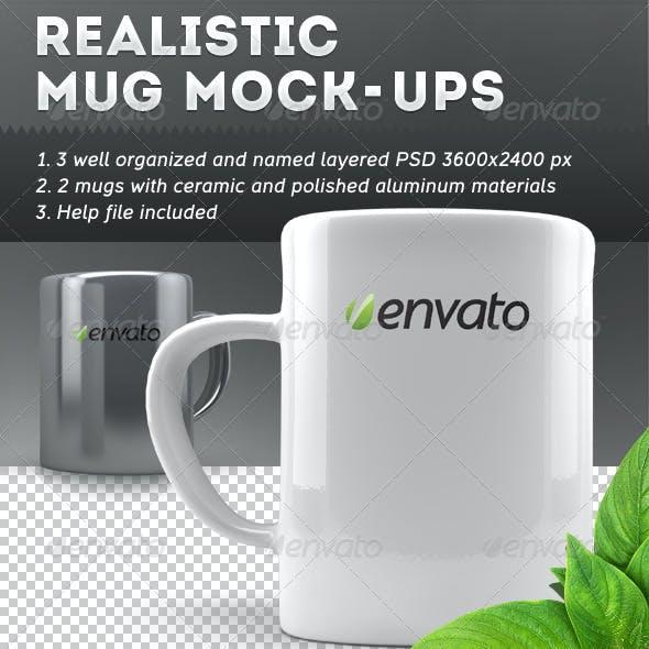 Realistic Mug Mock-Ups