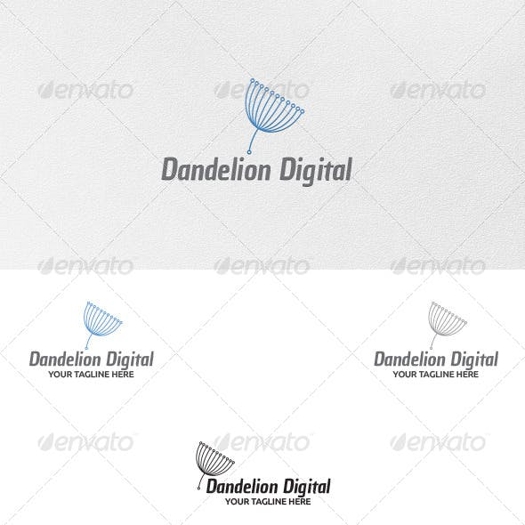 Dandelion Digital - Logo Template