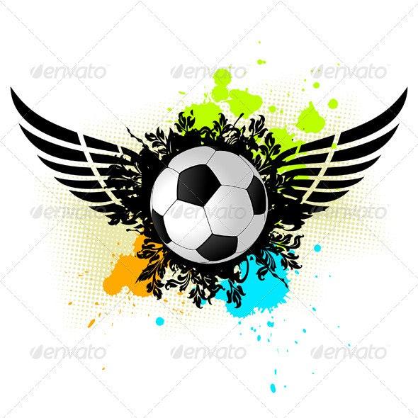 Grunge Soccer Ball - Sports/Activity Conceptual