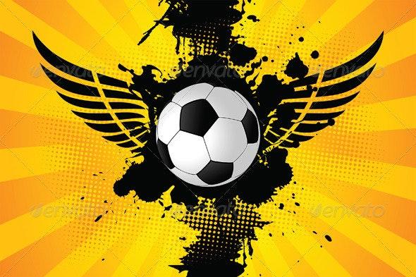 Grunge Soccer Ball - Backgrounds Decorative