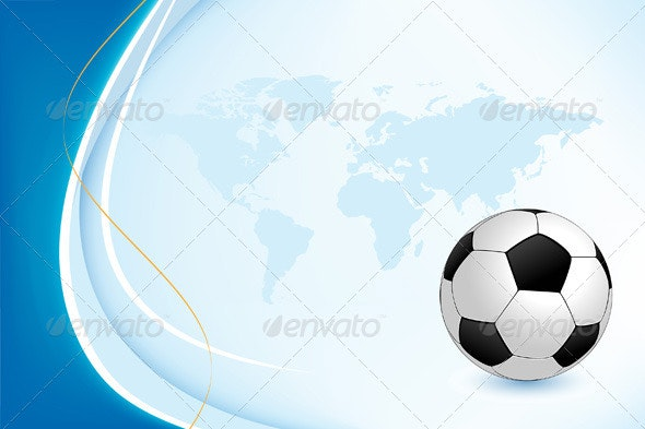 Background with Soccer Ball - Backgrounds Decorative