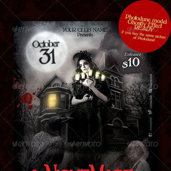 Nightmare Party Flyer Template