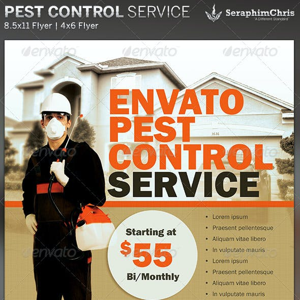 Pest Control Service Flyer Template