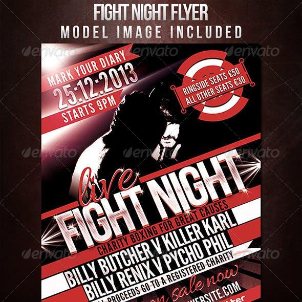 Fight Night Sports Flyer