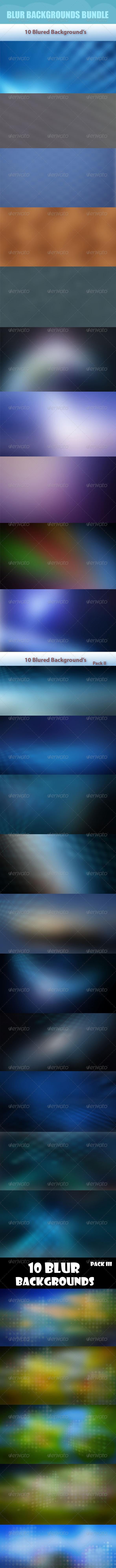 Blur Backgrounds Bundle