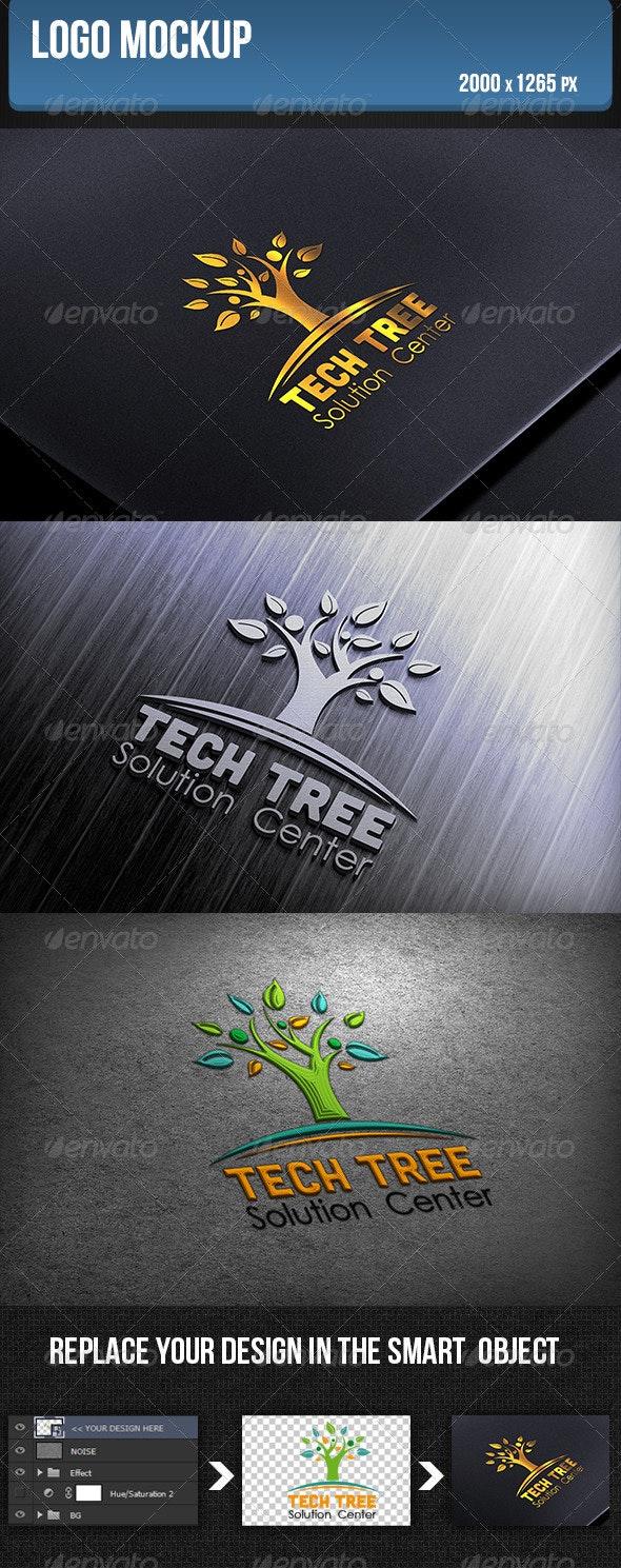 Logo Mockup - Product Mock-Ups Graphics