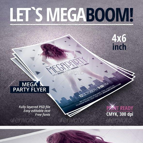 Mega Party Flyer