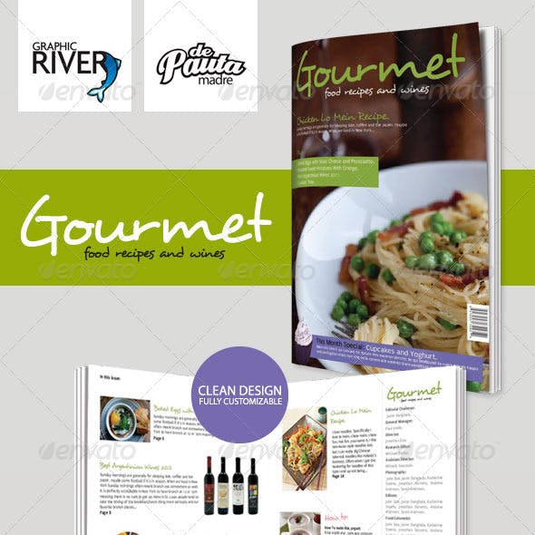 Gourmet InDesign Magazine Template