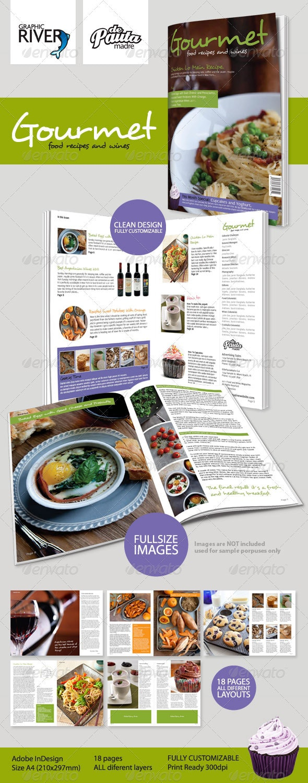 Gourmet InDesign Magazine Template - Magazines Print Templates