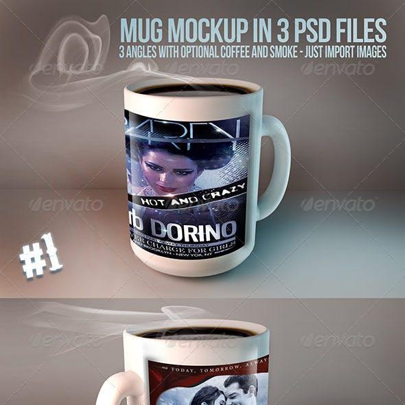 Mug Mockups - 3 PSD files