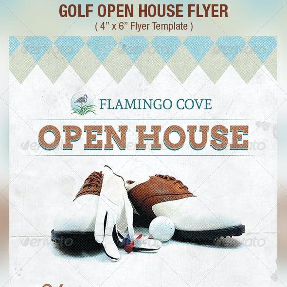 Golf Open House Flyer Template