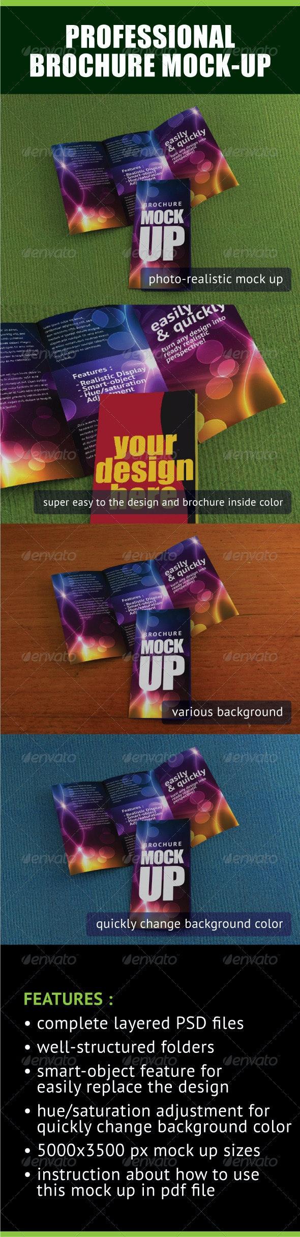 Professional Trifold Brochure Mock-Up - Brochures Print
