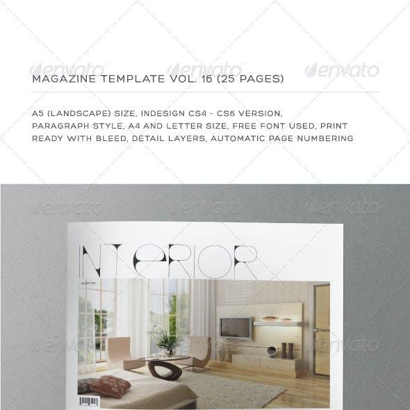 A5 Landscape 25 Pages mgz (Vol. 16)