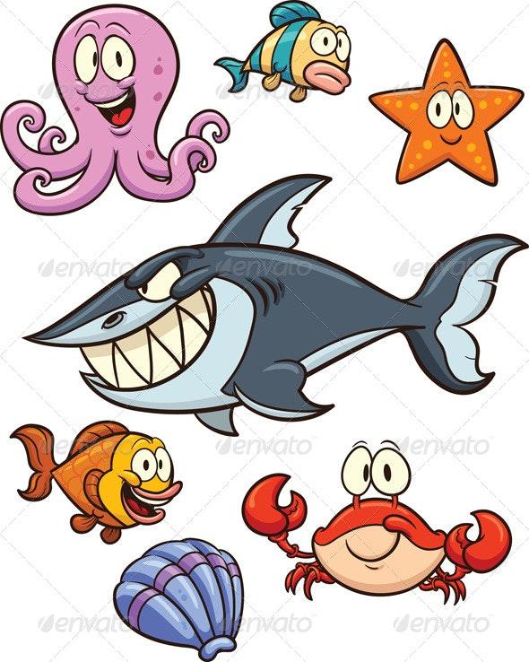 Sea Creatures - Animals Characters