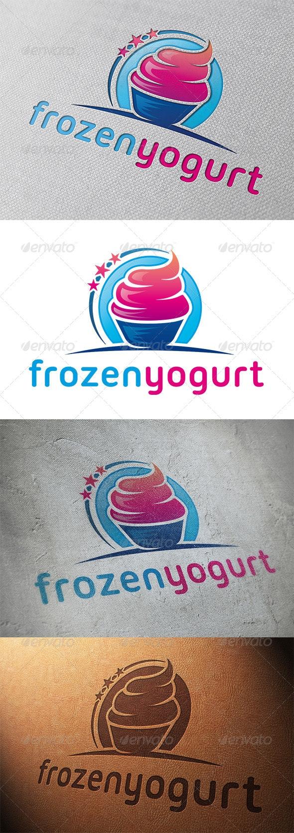 Frozen Yogurt Logo Template - Food Logo Templates
