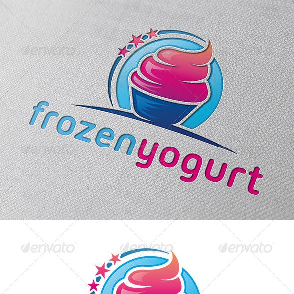 Frozen Yogurt Logo Template