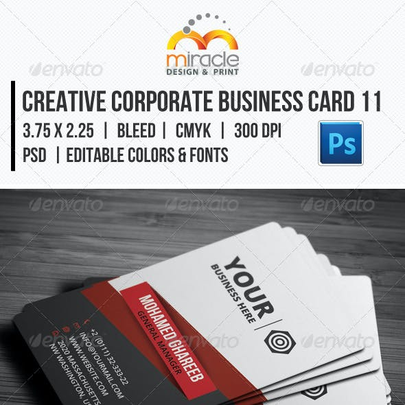 Creative Corporate Business Card 11