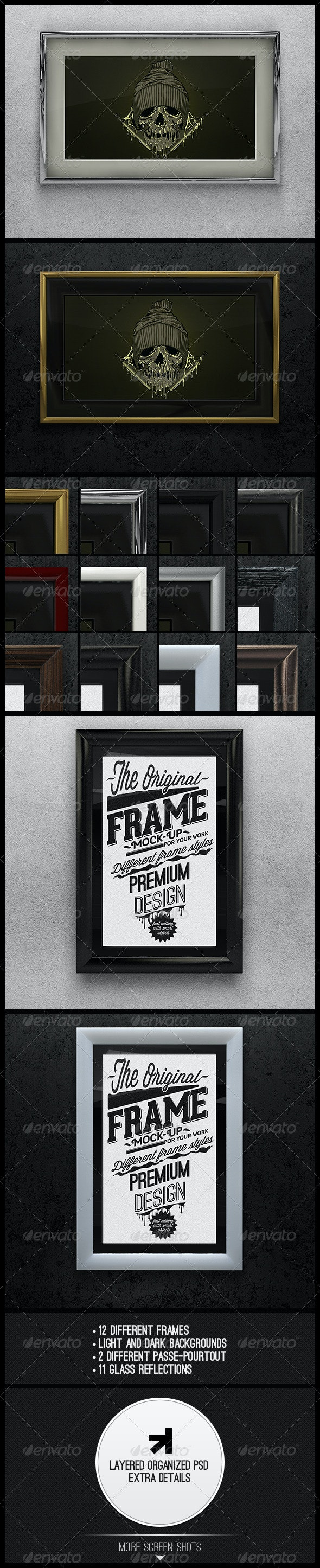 Artwork Frame Mock-up - Product Mock-Ups Graphics