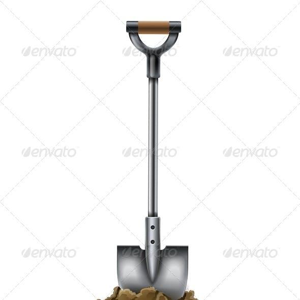 Shovel Tool for Gardening Work in Ground