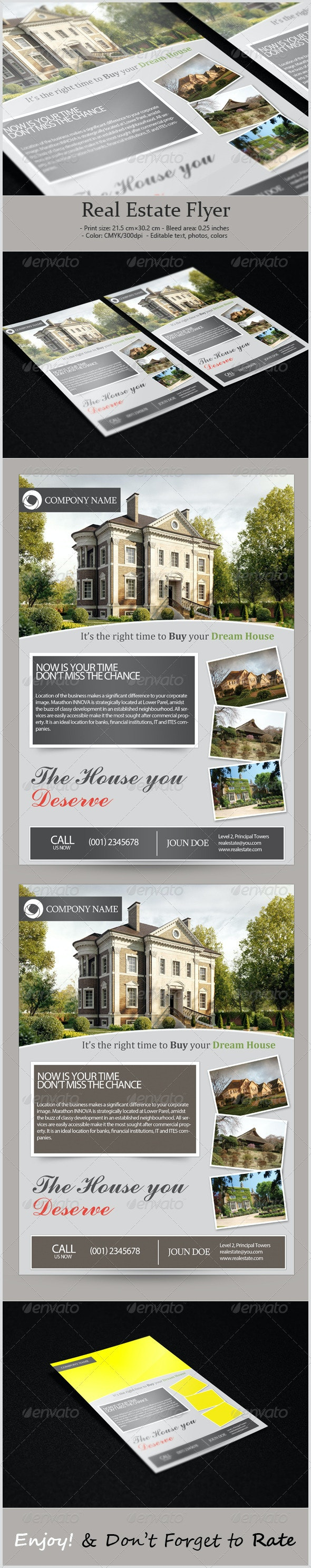 Corporate Real Estate Flyer - Print Templates