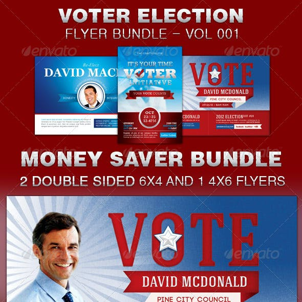 Voter Election Flyer Template Bundle-Vol 001