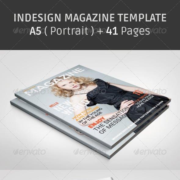 A5 Magazine Template (Portrait)