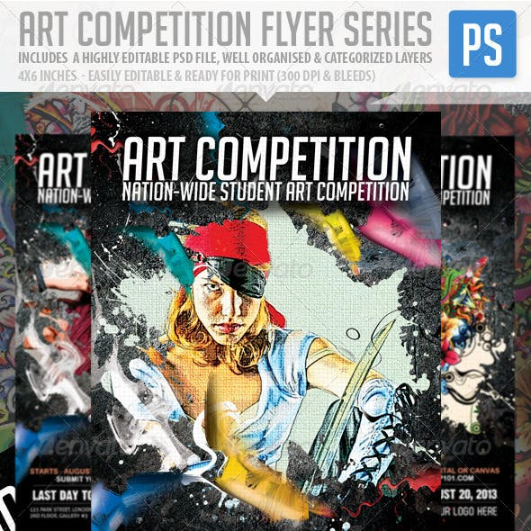 Art Competition Flyer Series